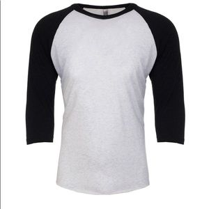 Tops - 2 Next Level Raglan tee size large and xl